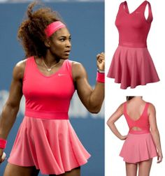 Extra Off Coupon So Cheap Serena Williams Nike Heathered V-neck Dress Tennis Dress, Tennis Clothes, Tennis Outfits, Serena Williams Tennis, Full Tracksuit, Tennis Players Female, Tennis Fashion, Workout Attire, Playsuit Romper