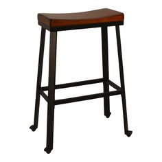 Thea 30 in. Chestnut Saddle Seat Stool, 30 In Chestnut/Black