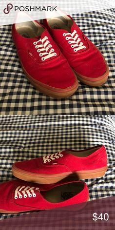 5621d9445dba Size 13 men s red low top vans. Only worn a few times. Vans Shoes