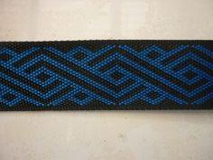 Black and royal blue taniko pattern bands for korowai's belts and crafts. Bead Loom Patterns, Cross Stitch Patterns, Maori Patterns, Cross Stitch Geometric, Maori Designs, Maori Art, Craft Sale, Loom Beading, Cross Stitching