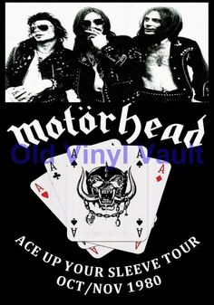 Motorhead concert poster Ace Up Your Sleeve Tour 1980  A3 Repro | eBay