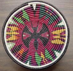 Wounaan Embera Butterfly Plate Basket-Panama 3.88827