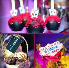 Festa Las Vegas | Esse tema foi escolhido para Festa Debutante, mas também pode ser tema de Festa Temática ou Festa de Aniversário! É tendência e fica incrível e super elegante.  http://www.festabox.com.br/festa-tematicas/festa-vegas