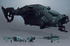 Ship concepts by Brad Wright | junk yard