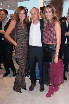 Cristina and Benedetta Parodi with Pietro Negra at collection launch event Ss16, What To Wear, Charlotte, Product Launch, Style Inspiration, Models, Sunglasses, Chic, Casual