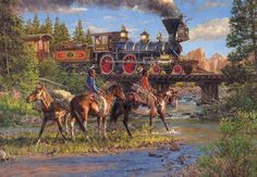 Iron Horse and Indian Ponies Horses Jigsaw Puzzle