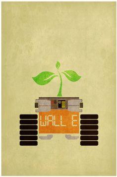 Love is in the air Pixar Poster, Disney Movie Posters, Fan Poster, Movie Poster Art, Minimal Movie Posters, Cinema Posters, Film Posters, Wall E Eve, Bon Film