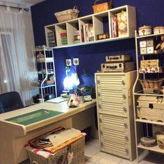 Hola! Cómo están? hoy vengo a mostrarles un poquito de mi casa...bueno, en realidad, de un rincón especial para mí! Mi cuarto de costura!...