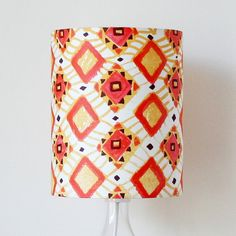 handprinted african geometric lampshade by made by ilze | notonthehighstreet.com