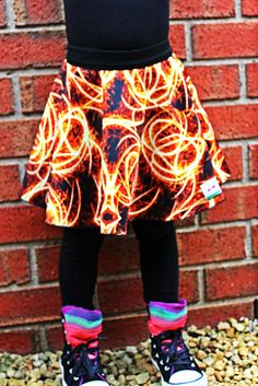 Girls Skater Skirt Size 2 3 4 5 6  - Firecracker by Two Pink Flamingos on Etsy, $30.00 AUD