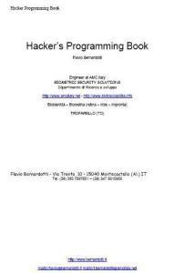 Progettazione e sviluppo sistemi di computer vision indirizzati alla sicurezza e hacker's book