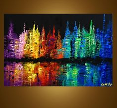 Abstract art by Osnat Tzadok Title: NEW YORK - I like this piece because it is abstract but still has recognizable features