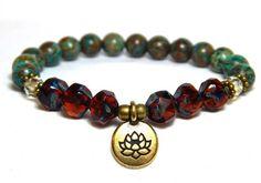 Yoga Lotus Flower Charm Bracelet – BlueStoneRiver