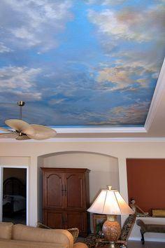 cloud murals ceilings a selection of favorite cloud murals and paintings by studio cloud ceiling mural wallpaper Ceiling Painting, Ceiling Murals, Mural Painting, Paintings, Ceiling Tiles, Bedroom Murals, Bedroom Ceiling, Wall Murials, Cloud Ceiling