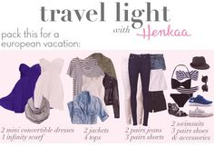 travel light: What to pack for Europe