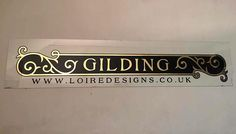 GILDING - SHOP SIGNS, HOUSE NUMBERS