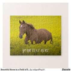 Beautiful Horse in a Field of Flowers Jigsaw Puzzle Sticker Shop, Beautiful Horses, Jigsaw Puzzles, Moose Art, My Arts, Flowers, Animals, Pretty Horses, Animales
