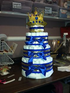 Royal Prince Diaper Cake