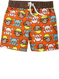 BABY SWIM TRUNKS! One of the only places I found AFFORDABLE swimwear for babies size 0-3 months and 3-6 months... Plus super cute! (I bought these!)