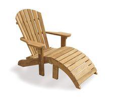 Bear Teak Adirondack Chair With Free Leg Rest