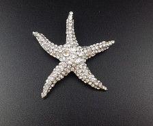 Crystal Starfish Brooch, Rhinestone Diamante Wedding Brooch Bouquet DIY Craft Supplies,Craft Supplies Bling, Brooch Brooch C12