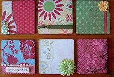 Altered Chipboard Coaster Magnets
