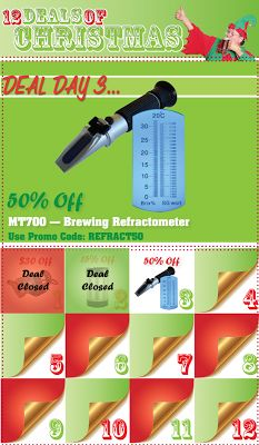 Homebrew Finds: 12 Deals of Christmas Day Three - 50% Off Refractometer