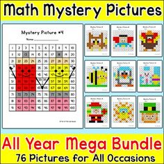 Tens and Ones Place Value, Addition & Subtraction Hundreds Chart Math Centers Back To School Activities, Math Activities, Tens And Ones, Number Puzzles, Picture Places, Hundreds Chart, Early Finishers, Place Values, Math Skills