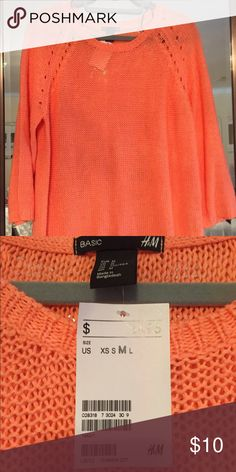 Coral Summer sweater Bright sweater Tops