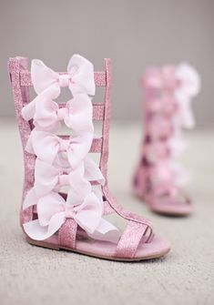 Designer childrens shoes by Joyfolie Alexa in Pink Glitter for girls in New Zealand | Return To Eden Children's Boutique