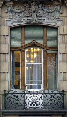 Budapest, French Window Of A Palace Balcony Doors, Iron Balcony, Architecture Old, Beautiful Architecture, Old Doors, Windows And Doors, Budapest, French Windows, European Windows