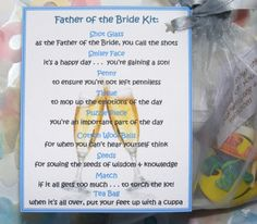 Father of The Bride Survival Kit In A Can. Humorous Novelty Gift ...