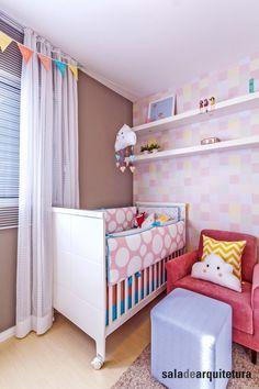 Tem projetos que parecem sonho de tão lindos. Esse quarto de menina é um deles. Amamos projetá-lo! ▶Projeto: Saladearquitetura ▶Imagem: Tatiana Galindo