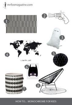 Mr Fox edits the best black & white pieces for a playful monochrome scheme.