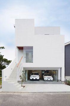 Apartment Architecture Exterior Entrance Ideas For 2019 House Front Design, Small House Design, Modern House Design, Japan Modern House, Minimalist House Design, Minimalist Home, Apartment Entrance, Design Exterior, Narrow House