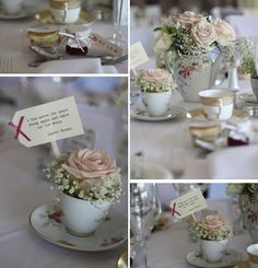 Soft Pink And Nude Wedding Flowers. Hogarths Wedding Flowers An Afternoon Tea Party Wedding In Solihull By Passion for Flowers. Vintage Wedding Flowers, Wedding Table Flowers, Wedding Bouquets, Wedding Centrepieces, Flower Bouquets, Wedding Dresses, Tea Party Wedding, Wedding Favors, Wedding Ideas
