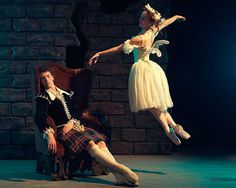 Kevin Jackson and Madeleine Eastoe in La Sylphide. Photography Georges Antoni