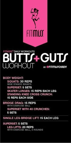FitMiss Butts & Guts Workout