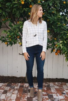 "Windowpane Flannel <br><p style=""font-size:20px""><i>(and Madewell + Natalie Borton Pop-Up Shop!)</i></p>"