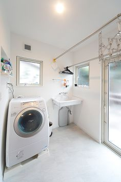 Garage Laundry, Laundry Room Storage, Laundry Room Design, Laundry In Bathroom, Washroom, Dream Home Design, Home Office Design, House Design, Home Living Room