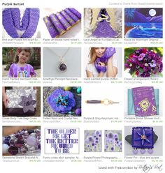 Purple Sunset by Diane of GlassDreamsHawaii  Featuring Etsy's Integrity Team and their SOTW: Jackie of KnitWithPleasure