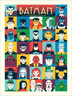 The New Batman Adventures Character Poster - Dave Perillo