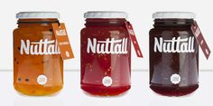 Nuttall Jam Packaging by MARK , via Behance - simply, yet beautifully designed