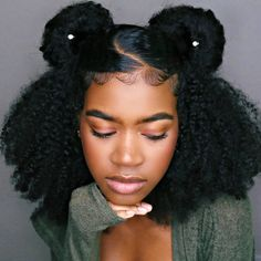 Rhinestone spin pins for the win! Thanks for the tag 😍💫 Cabelo Natural 3c, 4a Natural Hair, Cute Natural Hairstyles, Protective Hairstyles For Natural Hair, Pelo Natural, Easy Hairstyles For Long Hair, Braided Hairstyles, Natural Hair Styles, Type 3c Hairstyles