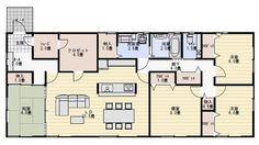 平屋 間取り 人気 House Layout Design, Small House Layout, Villa Design, House Layouts, Craftsman Floor Plans, House Floor Plans, Japan Architecture, Simple Interior, Japanese House