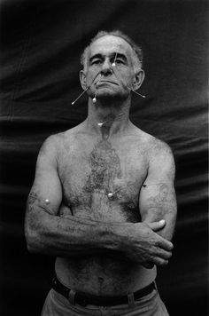 The Human Pincushion, Ronald C. Harrison, New Jersey, 1962 photo by Diane Arbus