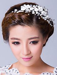 White+Roses+with+Pearl&Zirconia+Wreath+Wedding+...+–+USD+$+13.99