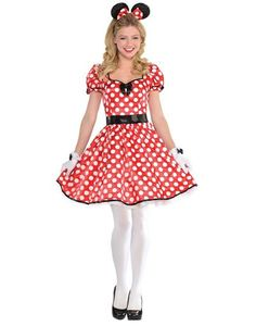 Adult Sassy Minnie Mouse Costume - Party City