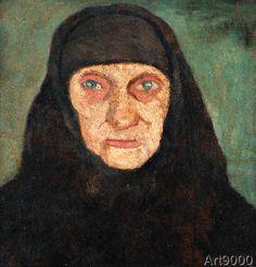 Paula+Modersohn-Becker+-+Kopf+einer+alten+Frau+mit+schwarzem+Kopftuch