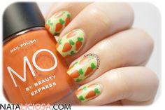 Manicura de zanahorias, ¿verdad que es monísima? <3 - Carrots nail art, isn't it super cute?